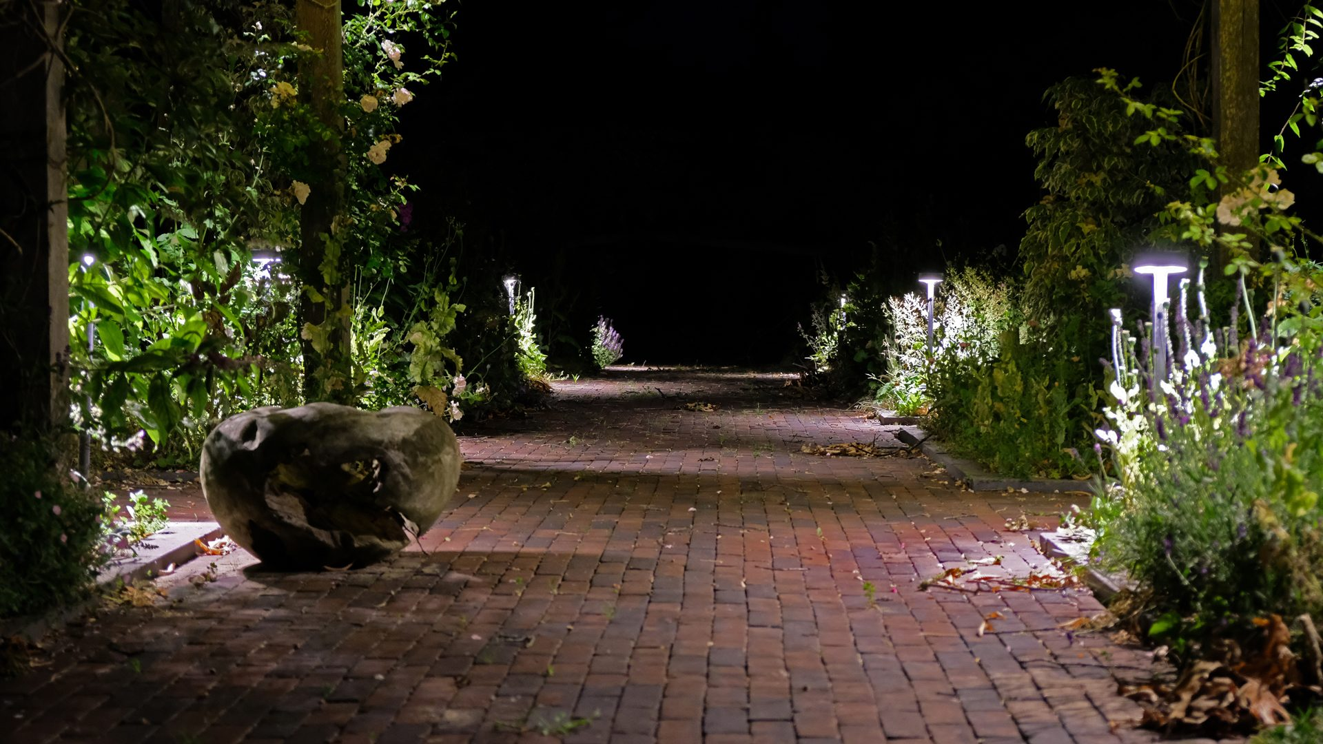 Lichtontwerp paden landgoed