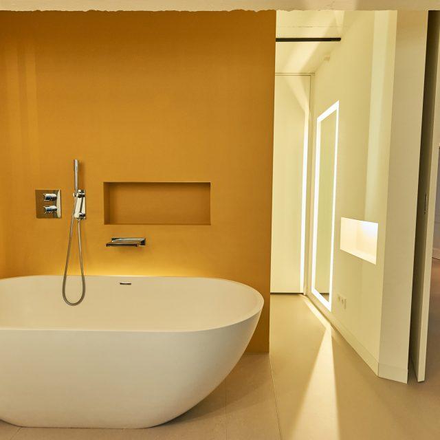 Lichtontwerp loft badkamer