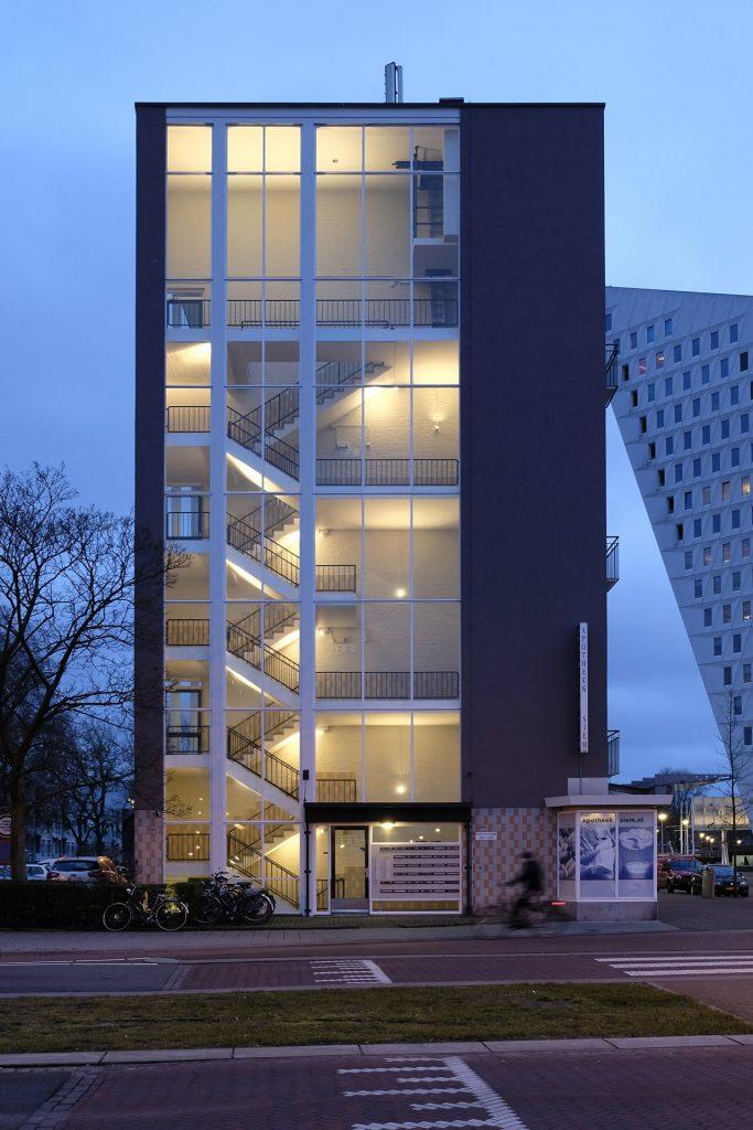 Lichtontwerp trappenhuizen flat