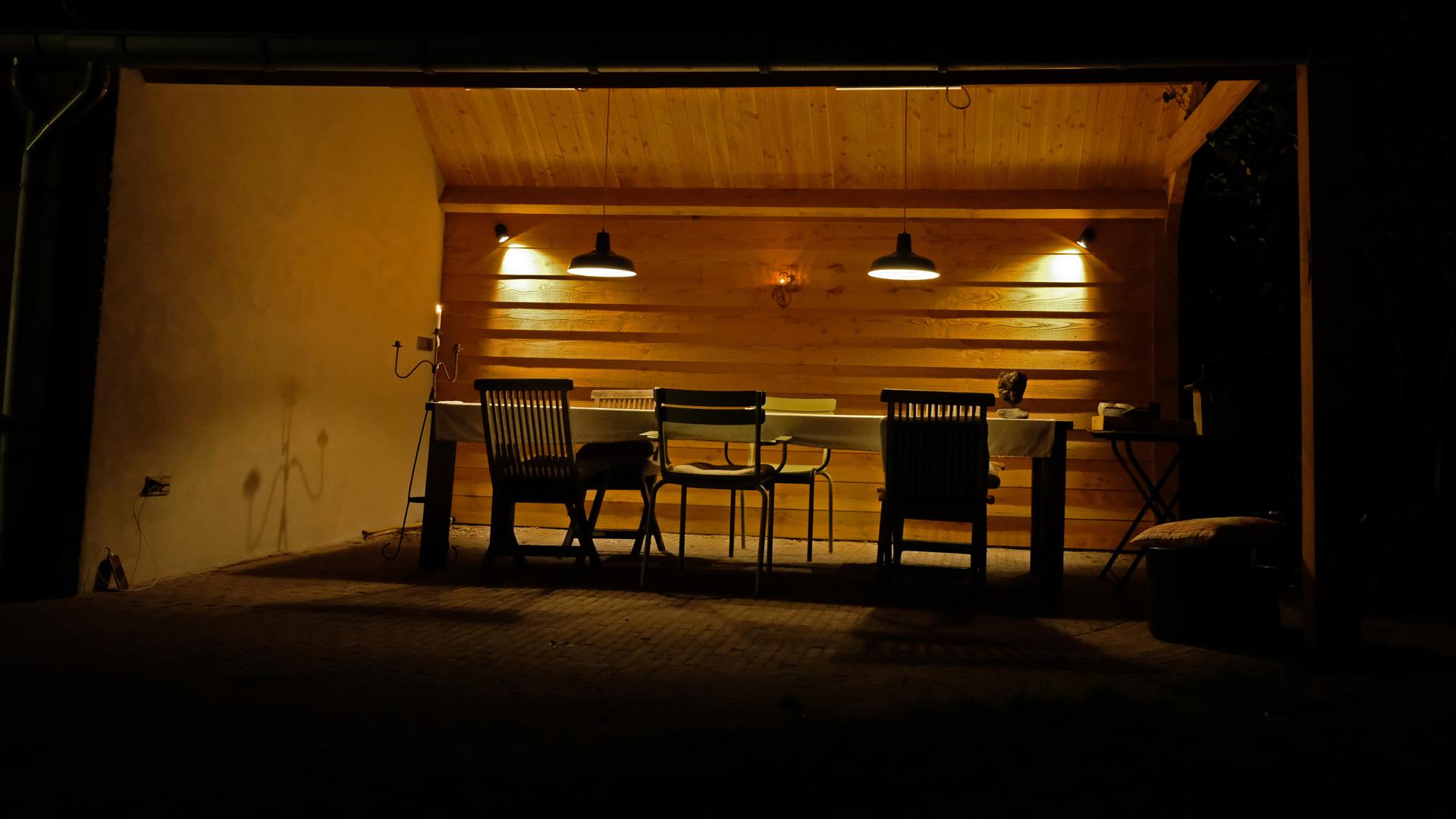 Lichtontwerp buitenruimte terras
