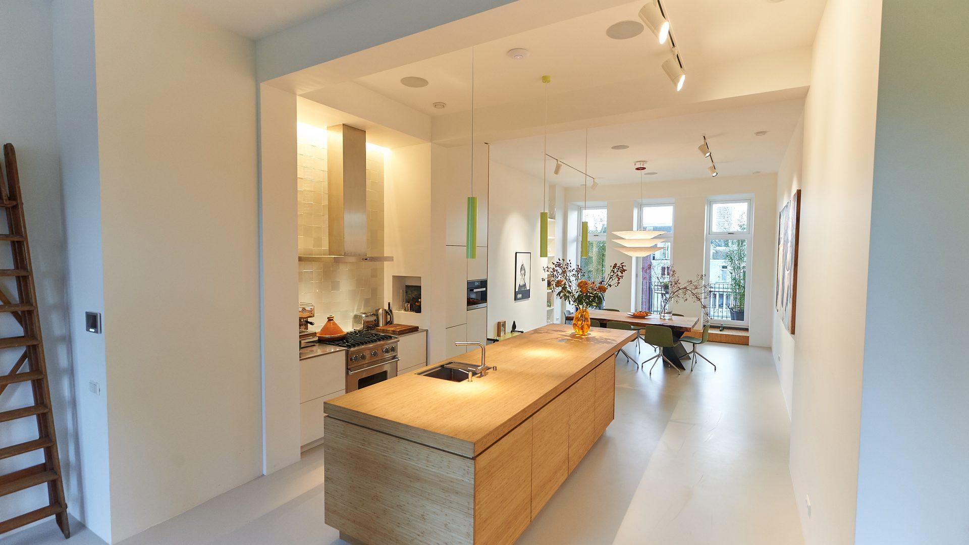 Lichtontwerp loft keuken